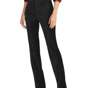 NEW LAUREN RALPH LAUREN VELVET STRAIGHT-LEG PANTS